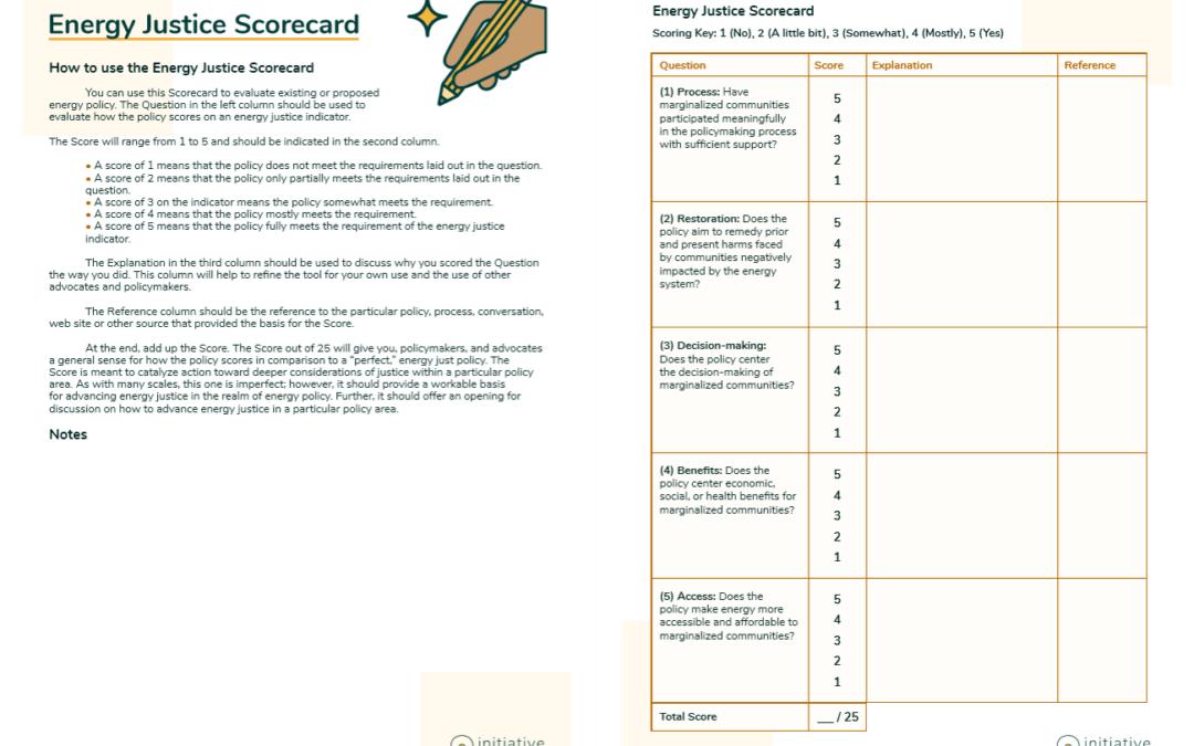 Energy Justice Scorecard