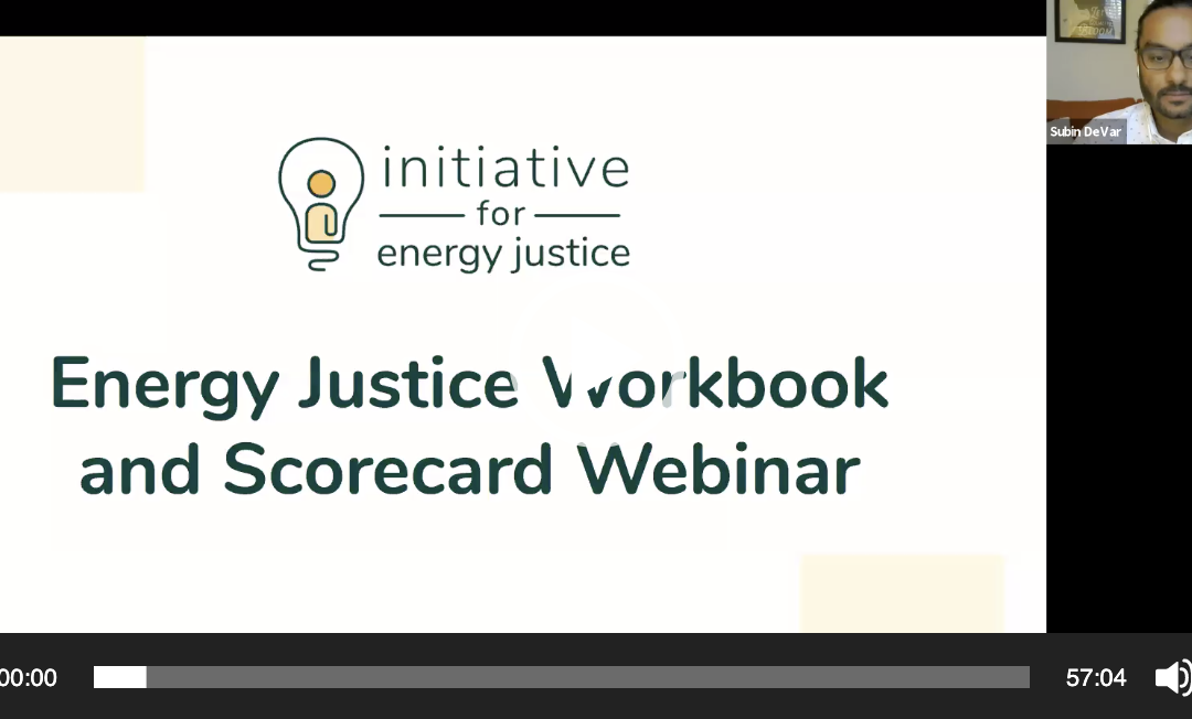 Webinar: Energy Justice Workbook & Scorecard – Jan 23, 2020 (Recording)