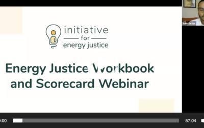 Webinar: Energy Justice Workbook & Scorecard – Jan 23, 2020 (Recording)