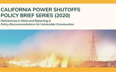 California Power Shutoffs Policy Brief Series