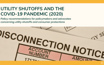 Utility Shutoffs and the COVID-19 Pandemic Policy Brief