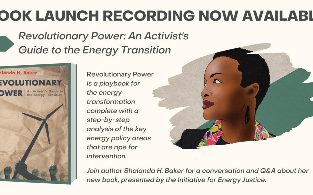 'Revolutionary Power' Book Launch Event, January 19, 2021 (Recording)