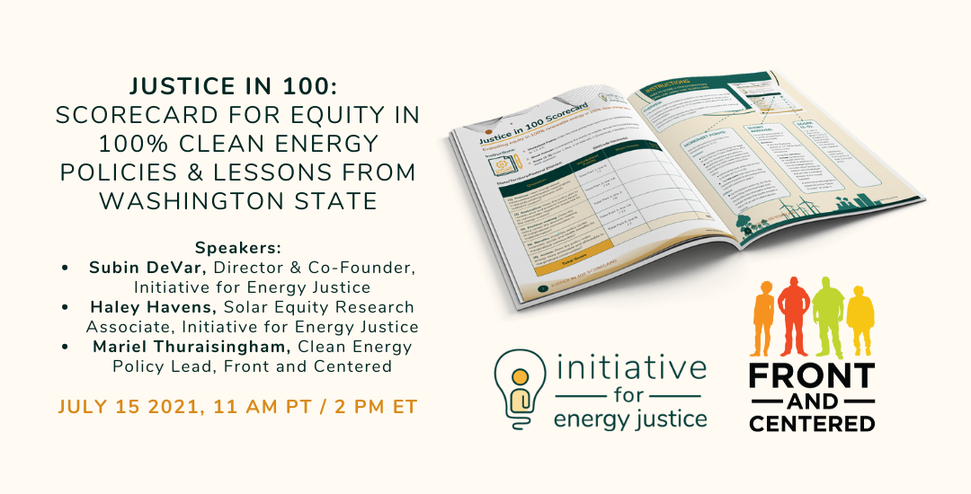 Webinar – Justice in 100: Scorecard for Equity & Lessons from Washington State (Recording)